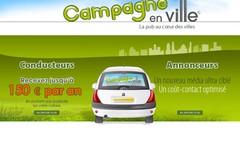 Campagne en ville.com vous rémunéré pour faire de la pub sur votre voiture.