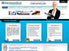 Incrase-bux.com est un site anglophone de clics rémunérés.