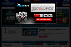 Poker-770.com : profitez du bonus de 100 % de poker 770.
