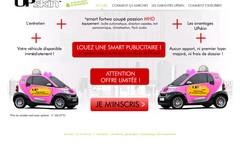Upskin.com vous propose de rouler en smart publicitaire Upskin.